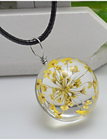 Women's Pendant Necklaces Round Flower Leather Fashion Adorable Jewelry For Wedding Party Birthday Graduation Gift Daily