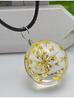 Жен. Ожерелья с подвесками Круглой формы В форме цветка Кожа Мода обожаемый Бижутерия Назначение Свадьба Для вечеринок День рождения