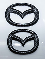 Automotive  Logo Carbon Fiber Earthly gold Logo for Mazda