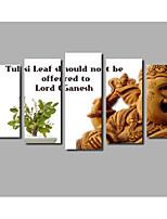 Stampa trasferimenti su tela Astratto,Tre Pannelli Tela Orizzontale Stampa Decorazioni da parete For Decorazioni per la casa