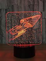 Basa Star Trek Bluetooth Speaker Usb Music 3D Night Light 5 Color Change Led Lampara