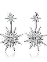 Women's Drop Earrings Rhinestone Geometric Luxury Multi-ways Wear Simple Style Classic Rhinestone Silver Plated Circle Geometric Jewelry