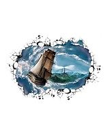 3D Wall Stickers Wall Decas Style Seas of Clouds Sail PVC Wall Stickers