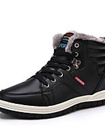 Men's Shoes Synthetic Microfiber PU Winter Fluff Lining Snow Boots Fashion Boots Boots Booties/Ankle Boots Lace-up For Casual Outdoor