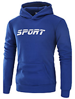 Men's Sports Running Going out Casual/Daily Simple Active Street chic Hoodie Solid Hooded Micro-elastic Polyester Spandex Long SleeveAll