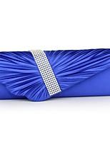 Damen Taschen Ganzjährig Polyester Abendtasche Strass Gefaltet Rüschen Kette für Hochzeit Veranstaltung / Fest Normal Formal Blau Weiß