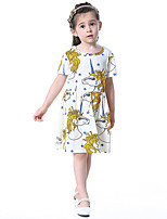 Girl's Cotton Fashion And Lovely Temperamental Gauze Kengpeng Harragu Cartoon Unicorns Princess Dress