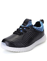 Women's Shoes PU Spring Fall Light Up Shoes Sneakers Flat Heel Round Toe LED Lace-up For Casual Red Black