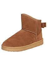 Women's Boots Comfort Fabric Winter Casual Flat Heel Brown Coffee Flat