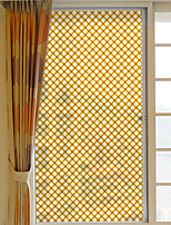 Window Film Window Decals Style Orange Grid PVC Window Film- (60 x 116)cm