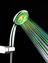 Colorful Shower Contemporary A Grade ABS Chrome Finish LED Shower Hand