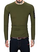 Standard Pullover Da uomo-Casual Ufficio Serata Vintage Semplice Tinta unita Rotonda Manica lunga Lana Cotone Rayon Autunno Inverno Medio