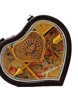 Music Box Toys Heart-Shaped Plastics Romantic Pieces Unisex Valentine's Day Gift