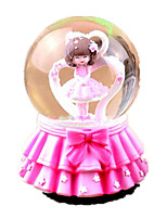 Balls Music Box Toys Round Toughened Glass 1 Pieces Not Specified Valentine's Day Birthday Gift