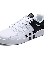 Men's Sneakers Comfort Spring Fall Tulle Athletic Casual Outdoor Lace-up Flat Heel Black/White Blushing Pink Black White Flat