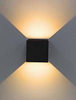 1 unids 2x5 w dimmable moderno cubo breve superficie ajustable montado llevó lámparas de pared al aire libre impermeable ip68 aluminio