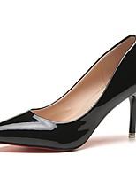 Damen High Heels Komfort Sommer PU Kleid Stöckelabsatz Weiß Schwarz Rot Rosa 7,5 - 9,5 cm