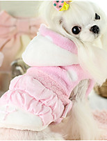 Dog Vest Dog Clothes Casual/Daily Princess Blue Blushing Pink