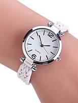 Damen Kleideruhr Modeuhr Armbanduhr Chinesisch Quartz PU Stoff Band Vintage Böhmische Bequem Elegante Schwarz Weiß Blau Rot Braun Lila