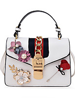 Women Bags All Seasons PU Tote for Wedding Event/Party Casual Formal Office & Career White Black