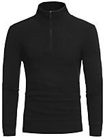 Men's Casual/Daily Long Cardigan,Solid V Neck Long Sleeves Cotton Fall Winter Medium Micro-elastic