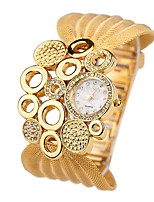 Women's Fashion Watch Quartz Alloy Band Casual Silver Gold