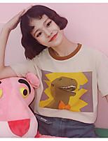 T-shirt Da donna Per uscire Semplice Estate,Con stampe Rotonda Cotone Manica corta Sottile