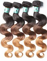 4 Bundles Peruvian Ombre Hair Body Wave Human Hair Weaves 100 Grams Per Bundles Color 1B/4/27