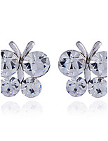 Women's Stud Earrings Rhinestone Basic Hypoallergenic Simple Style Rhinestone Alloy Jewelry For Party Gift Daily Casual Evening Party