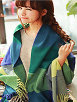 Women's Fleece Rectangle Patchwork Spring/Fall Winter