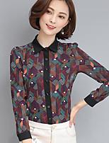 Camicia Da donna Casual Semplice Con stampe Colletto Altro Manica lunga