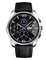 SKMEI Men Chronograph Watch Men Sport Watch Leather Quartz-Watch Waterproof Clock Date Men's Wrist Watch relogio masculino