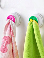 2Pc Washing Cloth Clip Hanger Sucker Holder Dishclout Storage Rack Bathroom Kitchen Storage Hand Towel Hook Random