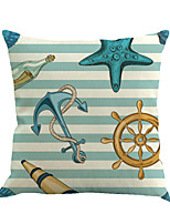 1 Pcs Stripe Boat Anchor Rudder Pillow Cover Classic Personality Pillow Case Home Decor