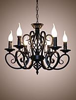 Lampadari stile europeo soggiorno lampade da pranzo semplici originalità candele innovative 6 lampade da testa