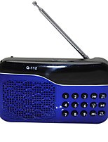 L-66 Radio portable Lecteur MP3 Carte TFWorld ReceiverNoir Rouge Bleu
