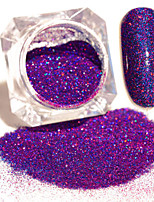 3g/Box Blue Purple Starry Holographic Laser Powder Holo Nail Art Glitter Powder