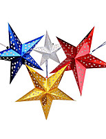 10 Piece / Set Christmas Decoration Products Laser Star Paper 30cm Stereo Pentagram Star Hanging Decoration