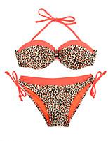 Da donna A fascia Bikini Monocolore Fantasia floreale Scollatura ampia Retrò Con lacci Monocolore