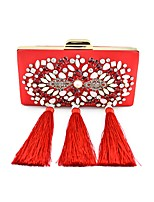 Women Bags All Seasons Silk Shoulder Bag Pearl Crystal/ Rhinestone Flower for Shopping Casual Blue Black Red Blushing Pink
