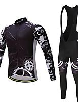 Maglia con salopette lunga da ciclismo Per uomo Manica lunga Bicicletta Pantalone/Sovrapantaloni Maglietta/Maglia Calze/Collant/Cosciali