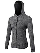 Women's Running Jacket Long Sleeves Anatomic Design Breathability Stretchy Tracksuit Zip Top for Running/Jogging Camping / Hiking Cycling