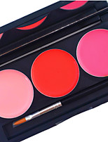 Pro 3 Color Lip Gloss Kit Matte Waterproof Coverage Lasting 24 Hours Not Rub Off liquid Lipstick Cosmetic Palette