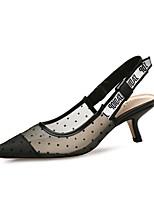 Damen High Heels Fersenriemen Künstliche Mikrofaser Polyurethan Tüll Sommer Herbst Normal Kleid Party & Festivität Stöckelabsatz Schwarz5