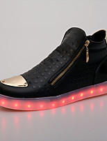 Men's Sneakers Light Up Shoes Comfort Synthetic Microfiber PU Spring Fall Casual Outdoor Office & Career Party & Evening Zipper Flat Heel