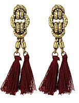 Fashion Vintage Double Tassel Dangle Earrings New Brincos Long Earring Bijoux Female Handmade Ethnic Jewelry for Women boucle