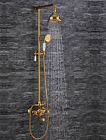 Contemporary Brass Luxury Series Ti-PVD Bathroom Shower Faucet