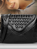 Women Bags All Seasons PU Shoulder Bag Rivet for Wedding Event/Party Casual Formal Office & Career Black