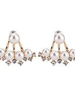 Per donna Orecchini a bottone Perle finte Di tendenza Elegant Perle finte Lega Triangolare Gioielli Per Quotidiano Casual Formale
