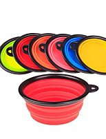 Cat Dog Bowls & Water Bottles Pet Bowls & Feeding Portable Foldable Blue Green Ruby Rose Yellow